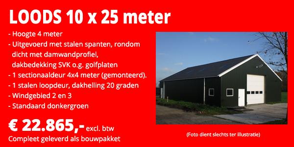 loods 10x25m